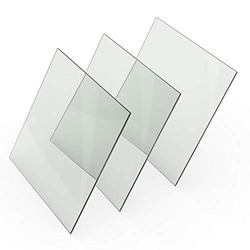 WZCXYX 3 Piezas Accesorios De Impresora 3D 214 * 214 213 * 200 Consumibles De Placa De Vidrio De Borosilicato Alto para Cama De Calefacción(Size:214x214x3mm)