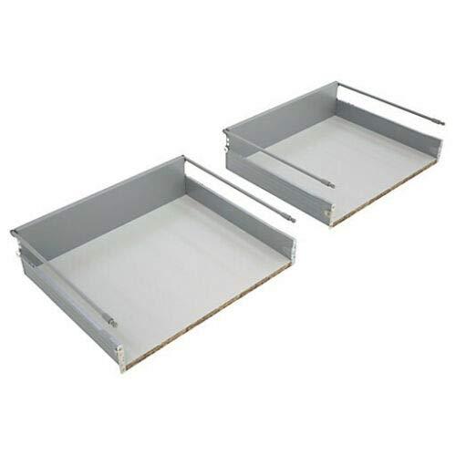 B&Q Prestige Juego de 2 cajas de repuesto para cajones de cocina de 500 mm con paneles laterales de 16 mm, cierre suave o estándar, kit completo incluye guías (2 cajones)
