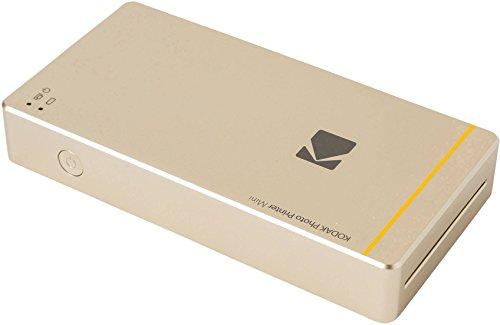 "Kodak mini portable mobile instant photo printer - Wi-Fi & NFC compatible - wirelessly prints 2.1 x 3.4"" images, Gold (KOD-PM210G)"