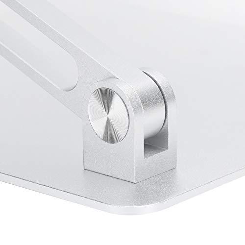Soporte para computadora portátil, soporte multifuncional para computadora portátil estable fácil de plegar para uso diario(Silver)