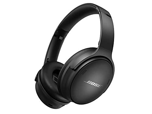 Bose QuietComfort 45 Auriculares inalámbricos Bluetooth con cancelación de ruido y micrófono para llamadas, negro