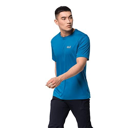 Jack Wolfskin Herren Tech T-Shirt, Blue Pacific, L