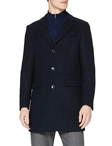 Amazon-Marke: find. Herren Mantel Wool, Blau (Navy), L, Label: L