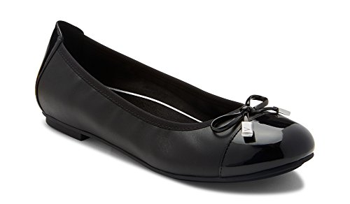 Vionic Women's Spark Minna Ballet Flat - Ladies Cap Toe Walking Flats with Concealed Orthotic...