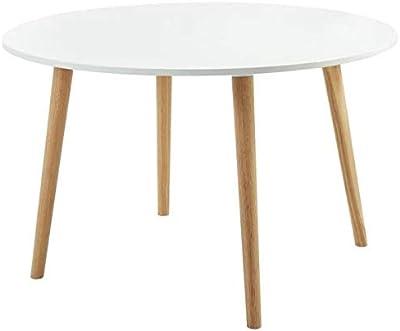 BAÏTA ORATELLO Table à Manger, Blanc, D120cm