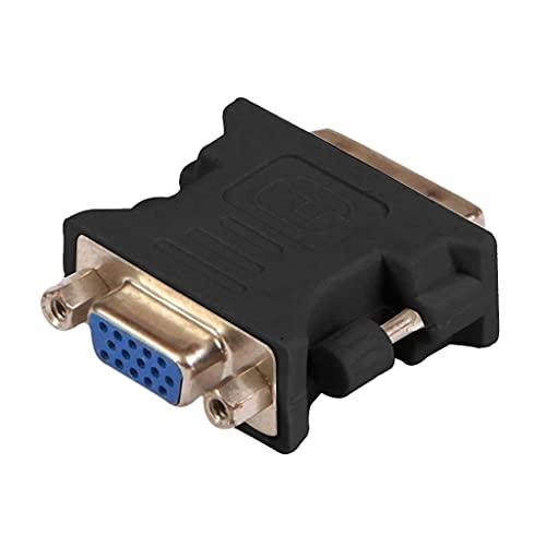 GUOJFEN Adaptador convertidor de Video DVI-I 24 + 5 Pines DVI a VGA Macho a Hembra Compatible con PC portátil Compatible con Tarjetas gráficas Computadora 1080P HDTV