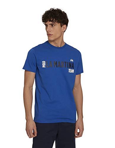 La Martina Patrice Maglietta, Blu (Nautical Blue 07065), Small (Taglia Produttore:S) Uomo