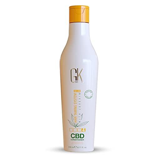 GK HAIR Global Keratin Hemp Conditioner (8.11 Fl Oz / 240ml) Hidratante, fortalecedor, reparador del color dañado, nutritivo y con brillo infundido Libre de sulfatos parabenos