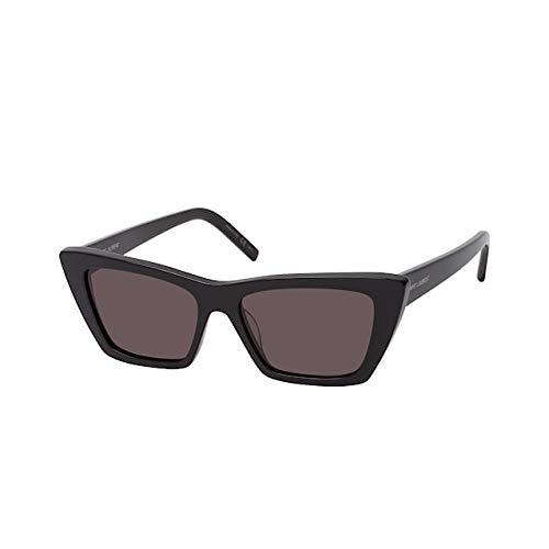 Ives Saint Laurent SL 276 Mica 001, Gafas de Sol con forma de ojo de gato para mujer, Color Negro, Con Protección UV 400