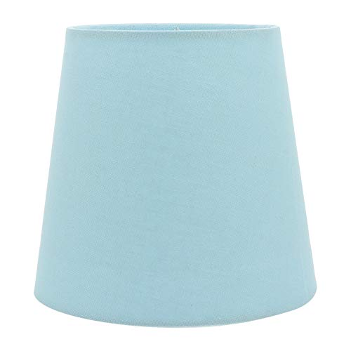 Mobestech Blauer kleiner Lampenschirm aus Stoff, Lampenschirm für Kronleuchter, Tisch- und Stehleuchten, Ersatz