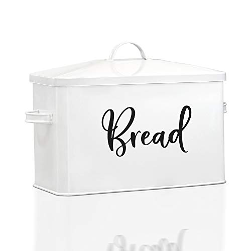 Home Acre Designs Collection Bread Box-Modern Farmhouse Kitchen Decor-Bread Boxes For Kitchen Counter Extra Large-Rustic Bread Storage-Breadbox Bin Countertop-Oversized Bread Containers Loaf Storage