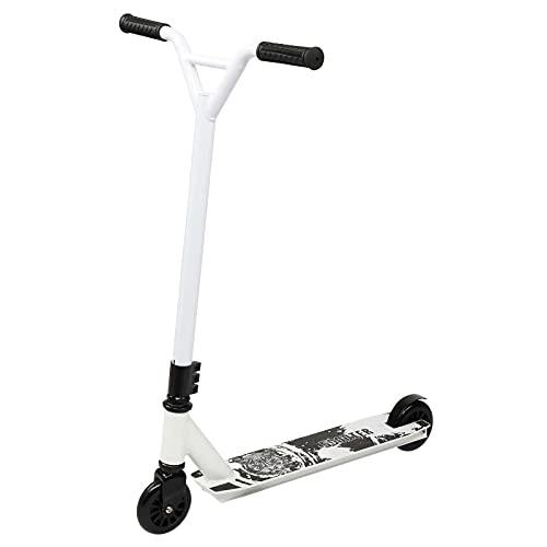 RUIXFEC Scooter plegable ligero ideal para las primeras 2 ruedas para niños de 5 a 12 años, niñas y niños, color blanco