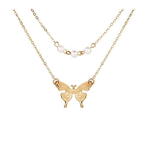 LPZW 2020 New Multilayer Punk Vintage Necklaces & Pendants For Women Retro Charm Gold Color Choker Necklace Bohemian Jewelry (Metal Color : 43567)