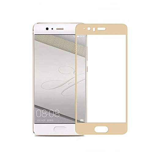 Movilrey Protector para Huawei P10 Dorado Completo 3D Cristal Templado de Pantalla...