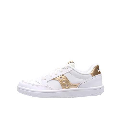 Saucony Jazz Court Sneaker Bianco-Oro Da Bambino SK164399