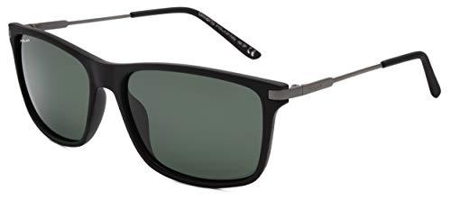 Polar sonnenbrille unisex polarisiert matt schwarz/matt grau mit grünen Gläsern (P400080)