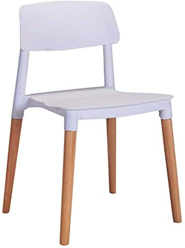 FHW Planken Lazy Chair, ergonomische stoelen en meisjes for Home/Den/woonkamer/keuken/Hotel/Cafe Yellow 45x43x77CM stoel (Color : White)