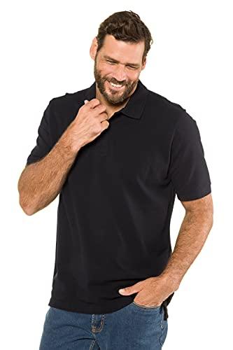 JP 1880 Herren große Größen Übergrößen Menswear L-8XL bis 8XL, Poloshirt, Oberteil, Knopfleiste, Hemdkragen, Pique, schwarz XXL 702560 10-XXL