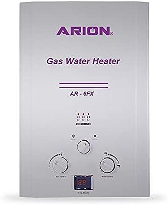 ARION Digital Gas Water Heater 6L AR-6FX - Silver