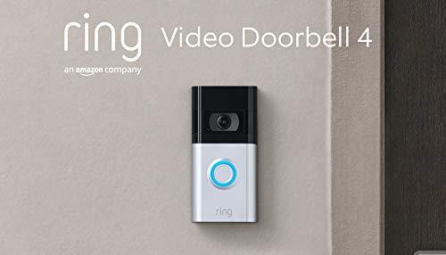 Die neue Ring Video Doorbell 4 von Amazon – HD-Video mit Gegensprechfunktion, Pre-Roll-Videovorschau in Farbe, Akkubetrieb   Mit kostenlosem 30-tägigen Testzeitraum...