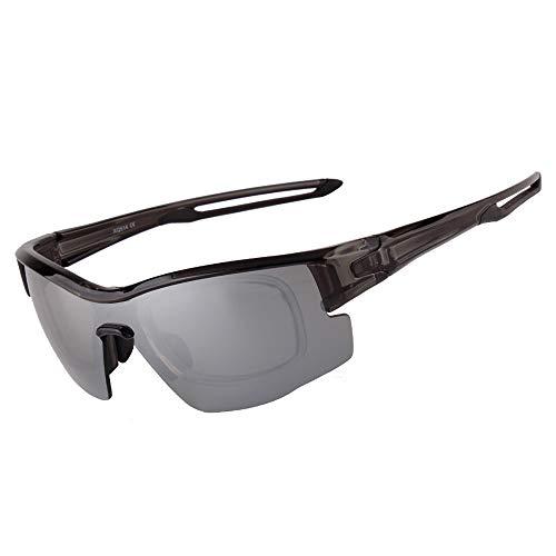 KK Zachary UV400 Cambio De Color Gafas De Sol Polarizadas Hombres Grises Gafas De Montar Deportes Al Aire Libre Bolsas De Arena Gafas Protectoras