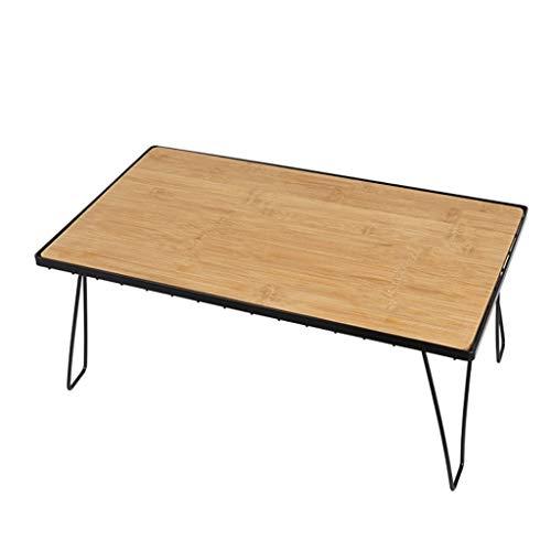 Mesa plegable al aire libre plegable de bambú portátil mesa de comedor camping mesa de barbacoa portátil...