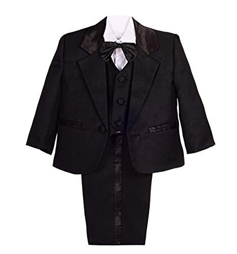 Lito Angels Baby-/Jungen-Outfit, 5-teiliger Anzug für Hochzeit, Taufe Gr. 92, Schwarz
