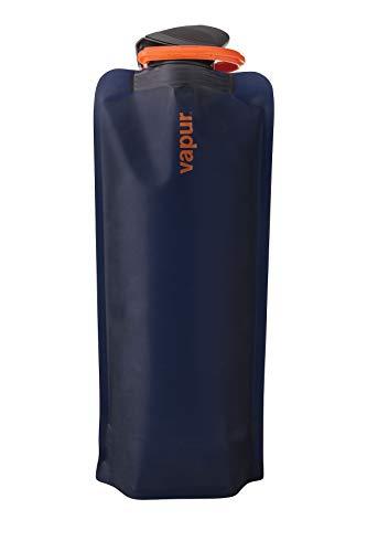 Vapur - Eclipse 1.0L BPA Free Foldable Flexible Water Bottle w/Carabiner (Night Blue)
