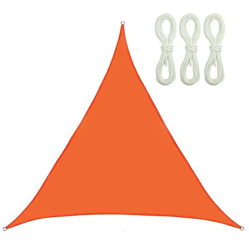 QINZC Toldo Vela De Sombra Triangular 2x2x2m Tela Vela Parasol Impermeable E Prueba De Viento 90% Resistente UV para Patio, Exteriores, JardíN,Naranja