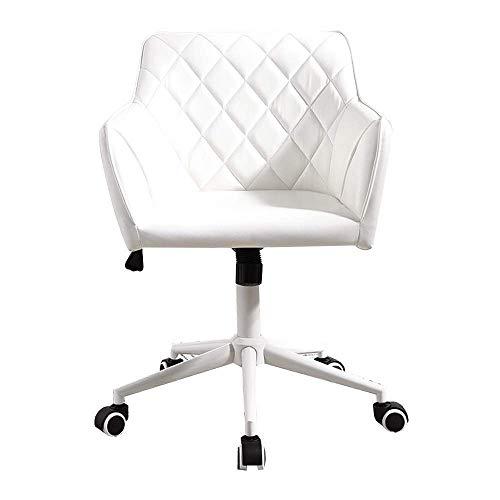 Chaise d'équipement quotidien Chaise d'ordinateur Chaise de bureau ergonomique Chaise longue en cuir PU avec fonction Runaway Siège de dossier Siège pivotant à la maison Chaise sédentaire confortab