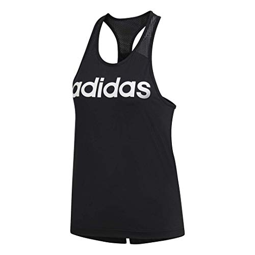 adidas Women's Design 2 Move Logo Training Tank Top, Black, Medium