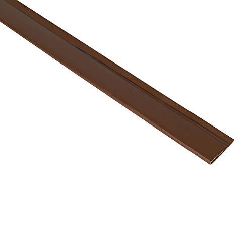 Sekey PVC Zaunschiene Endstreifen Abdeckungsprofil Geeignet für Balkone, Zäune, Privatsphäre im Garten Sichtschutzmatte, Zaunschutz, 1 m/Streifen, 5er Set, Braun