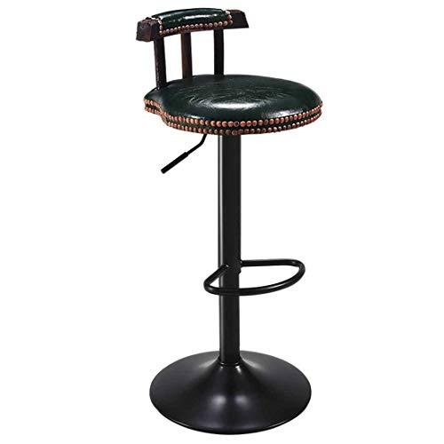 Giyl barstools Hoogte 360 ° draaibare barkruk, in hoogte verstelbaar, met rugleuning en voetsteun, Coffee Shop, Theke, Kapsalon