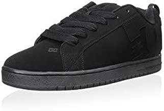 DC Men's Court Graffik Skate Shoe, Black/Black/Black, 9.5 D D US