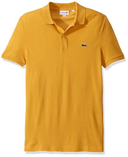 Lacoste Herren Short Sleeve Slim FIT Pique Polo Poloshirt, Darjali Gelb, 3X-Groß