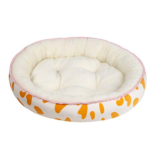 H2okp-009 Pet Bed Lovely Bear Paw Shape Dog Cats Pet Cushion Bed Warm Plush Soft Nests Kennel Yellow S