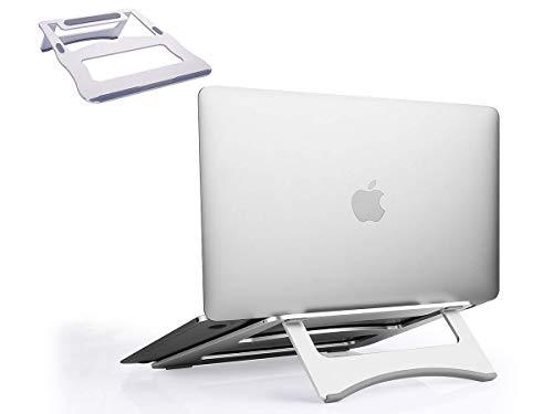 White Elekin Supporto per PC Portatile Angolazione Regolabile Portatile Pieghevole per Computer Portatile//Laptop//MacBook PRO//MacBook Air Unibody//iPad// Notebooks Laptops Fino a 15.6 Pollici