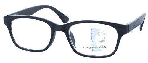 Gleitsichtbrille GEROLD - erweiterte Fertiglesehilfe/Lesebrille | Arbeitsplatzbrille +2,00 dpt in Schwarz