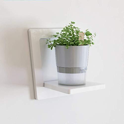 YLCJ muurbeugel voor bloemen, hoge weerstand, wand, woonkamer, creatieve plank voor het ophangen van bloemen, lijsten en balkon, 30 x 30 x 20 cm (kleur: wit) Wit