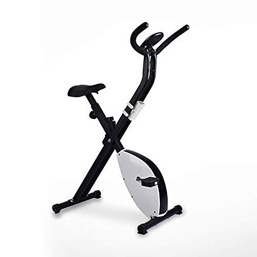 Bicicleta estática plegable para el hogar Ejercicio cardiovascular Mancuernas ajustables Altura del asiento Bicicleta estática para interiores Mini bicicleta de ciclismo Pedal Peso para correr Equipo