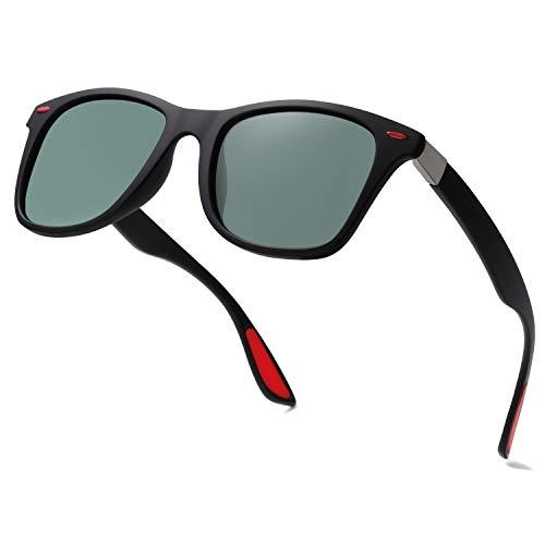 SOJOS Polarisierte Herren Sonnenbrille zum Laufen Radfahren Angeln Golf Driving Sport TR90rahmen Arena SJ2101 mit Matt Schwarzer Rahmen / G15 Linse