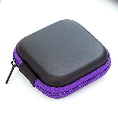 Mdsfe nieuwe hoofdtelefoonhoes met ritssluiting, leren hoofdtelefoonhoes, opbergbox, draagbare USB-kabel-organizer met harde tas voor munt-geheugenkaartenboxen - f, A2
