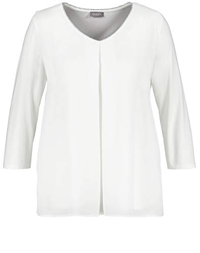 Samoon 471023-29159 Camiseta, Marfil (Blanquecino 9700), 42 (Herstellergröße: 40/42) para Mujer