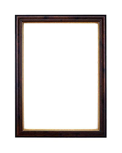 Kunstzinnig schilderij-, foto- en posterlijst, met MDF-achterwand en zeer helder, breukvast plexiglas van styrol, om op te hangen of neer te zetten. 40,6 x 30,5 cm Smooth Walnut