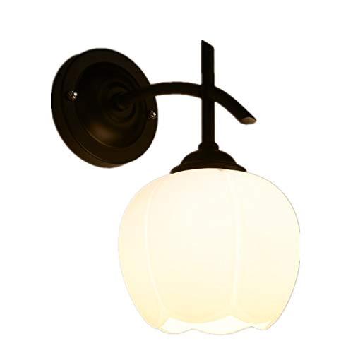 Lámpara de pared de hierro forjado suave y moderno, minimalista, resistente y estable, adecuada para un dormitorio en el salón.