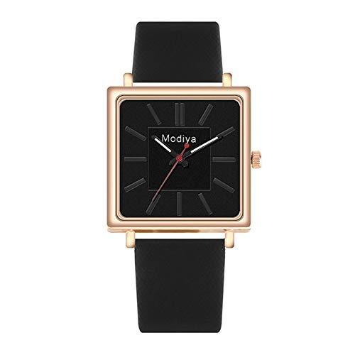 Armbanduhr Uhr Uhren Damenuhr Damen Eleganter Ledergürtel Analog Quarz Quadrat Quarz Armbanduhren Uhren Mode Casual Armbanduhren