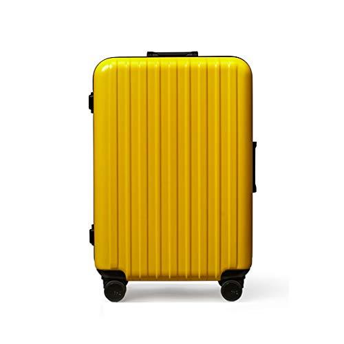Equipaje Lyl Maleta de Viaje con contraseña embarcada en el chasis 25L de Gran Capacidad. (Color : Yellow)
