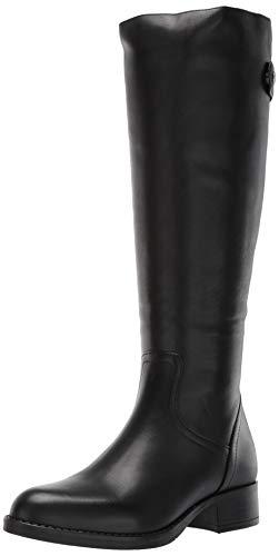 Steve Madden Women's Journal Hiking Boot, Black Leather, 5.5 W US