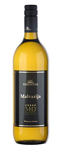 Vinakoper Weine Malvasia Slowenischer Wein - Malvazija Weisswein aus Istrien 1 Liter Weißwein trocken - (12,5% vol) wine from Istra - Weiswein EINWEG