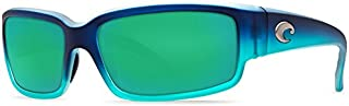 Costa Del Mar CL73OGMGLP Caballito Sunglass, Matte Caribbean Fade Green Mirror